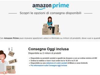 Consegna Oggi Amazon