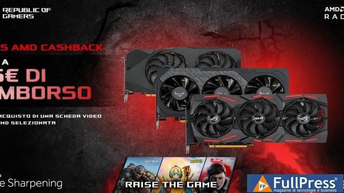 Asus: cashback su schede video AMD