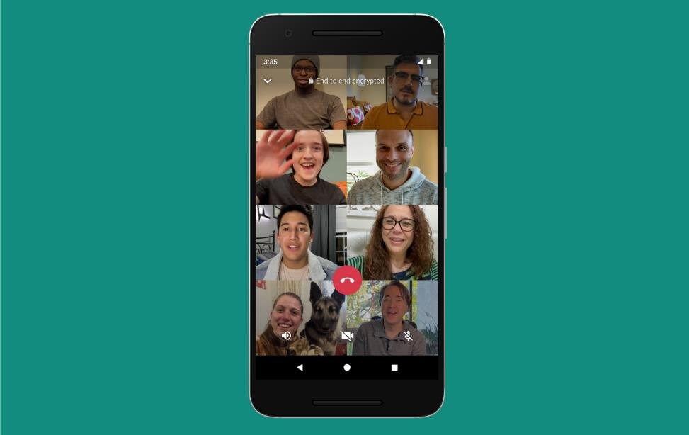 Whatsapp videochiamate 8 persone