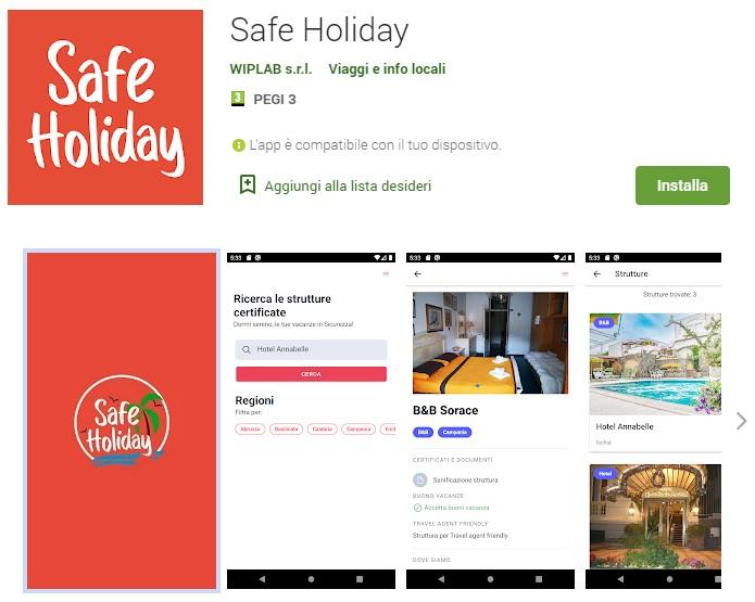 Nasce App Safe Holiday per le vacanze sicure e per conoscere dove spendere il bonus vacanze. Iscrizione gratuita per le prime 100 strutture.