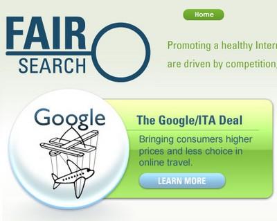 Fairsearch contrasta l'acquisizione di Ita Software da parte di Google
