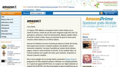 Amazon.it, homepage