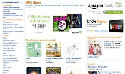 Amazon MP3 Store e Cloud Service