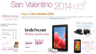Amazon: sconti di San Valentino
