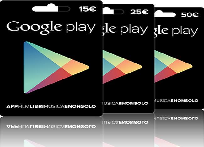 """Google Play, ora anche carte regalo """"virtuali"""""""