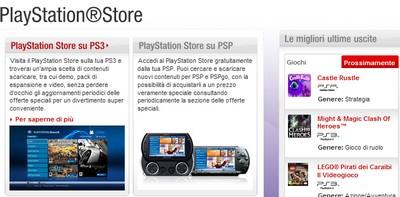 PlayStation Store, la home: il servizio è ancora chiuso