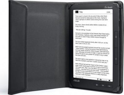 Asus Eee Reader DR900 riposto nella custodia di pelle
