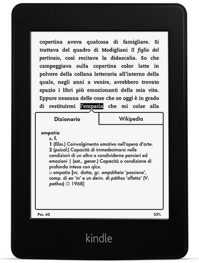 Nuovo Kindle Paperwhite 2013