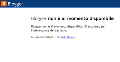 Blogger non funziona