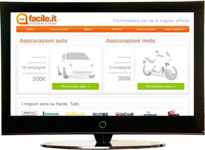 Facile.it, nuovo sito di comparazione prezzi e servizi
