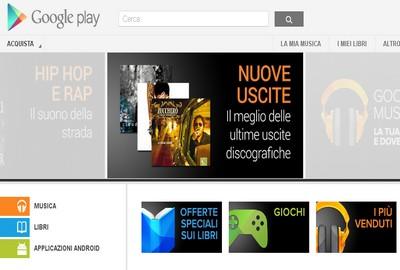 La home di Google Play