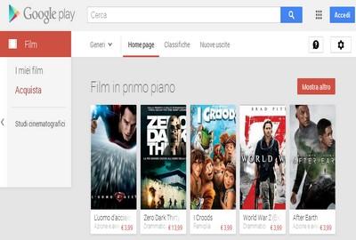 Google Play Store: sezione Film