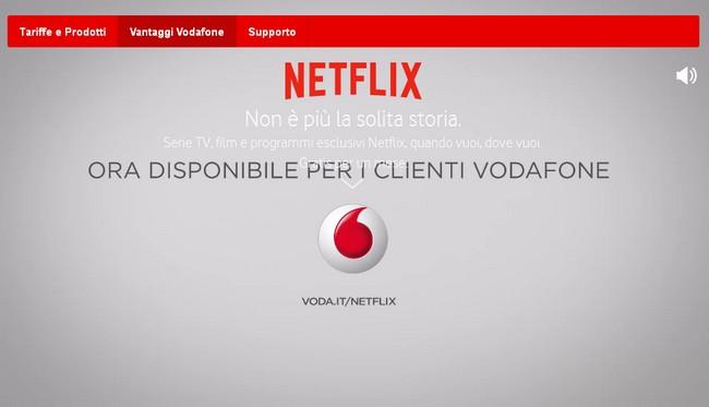Netflix + Vodafone Italia