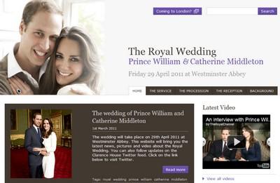 Google per il sito del matrimonio di William e Kate