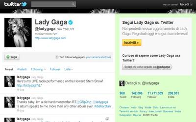 Truffa su Twitter citando Lady Gaga