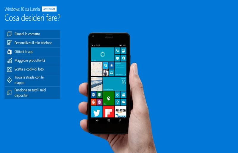 Windows 10 Mobile presto in arrivo