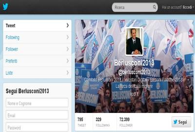 Berlusconi2013 su Twitter
