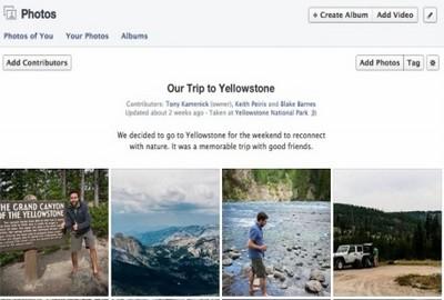 Album Condivisi di Facebook, novità