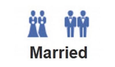 Icone dei matrimoni gay su Facebook