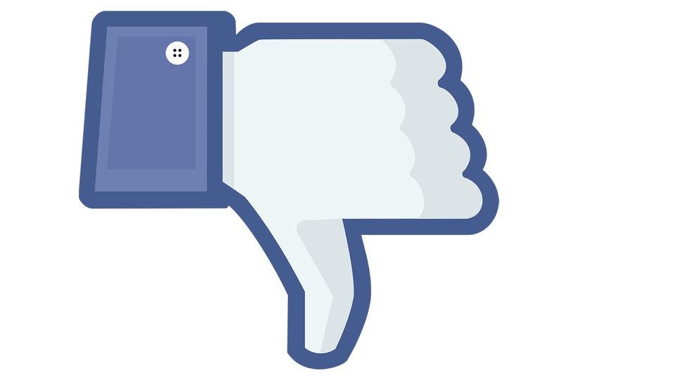 Facebook, Non mi piace