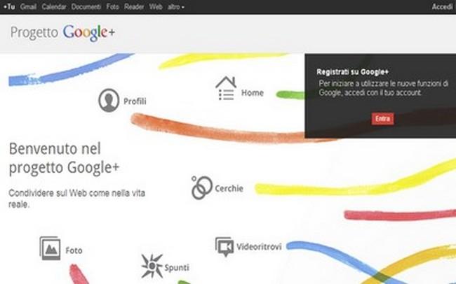 Google Plus: l'iscrizione non è più obbligatoria