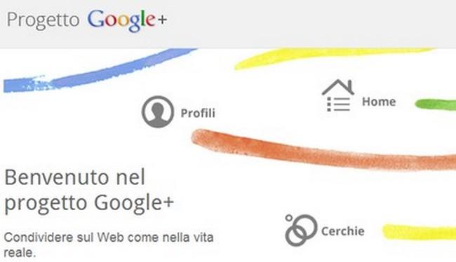 Iscrizione a Google+: novità nomi
