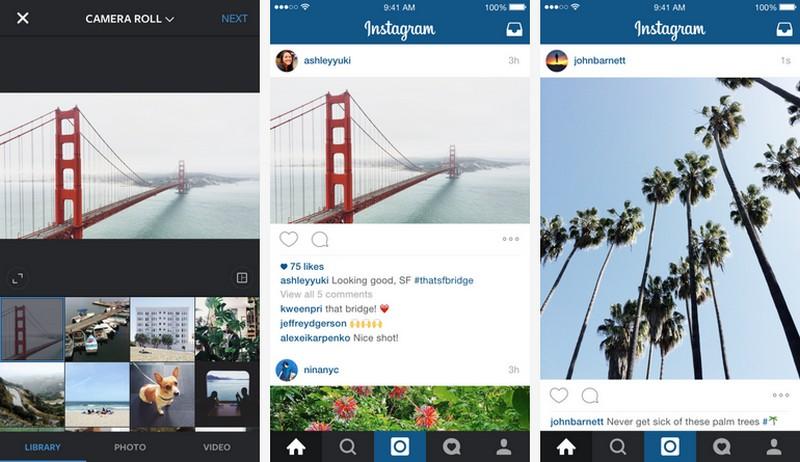 Instagram introduce formati landscape e portrait