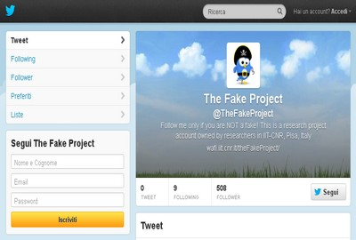 The Fake Project su Twitter