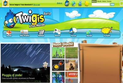 Twigis, homepage italiana