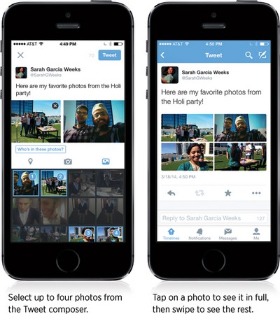 Twitter: tag e multiupload di foto
