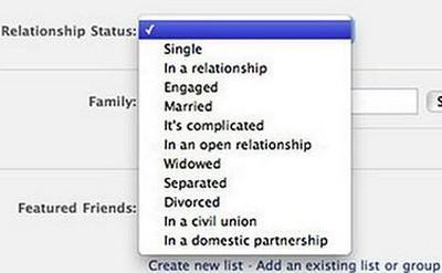 Facebook apre alle coppie di fatto