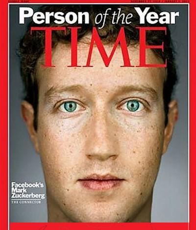 Mark Zuckerberg sulla copertina del Time: uomo dell'anno
