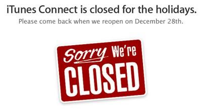 iTunes Connect di App Store chiuso per ferie