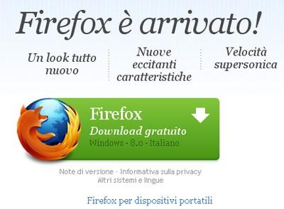 Firefox 8 è in download