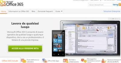Microsoft Office 365 beta pubblica