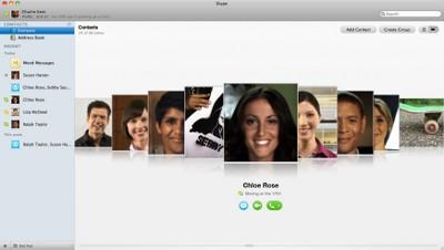 Skype 5.0 per Mac, nuova interfaccia