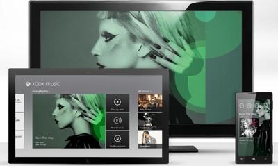 Xbox Music, homepage di presentazione
