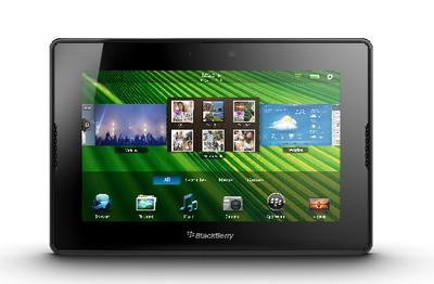 BlackBerry PlayBook, visuale frontale