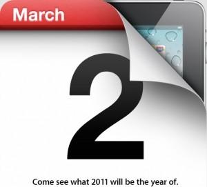 iPad 2 verrà presentato il 2 marzo 2011