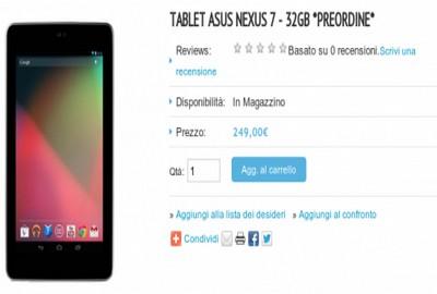 Nexus 7 da 32 GB su Asus Store