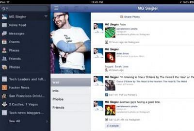 Facebook app per iPad