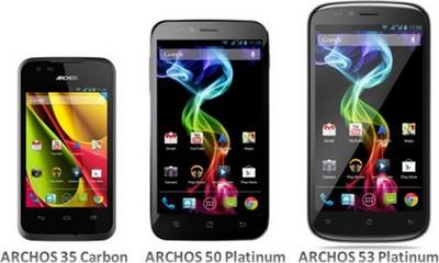 Archos, tre nuovi smartphone in uscita