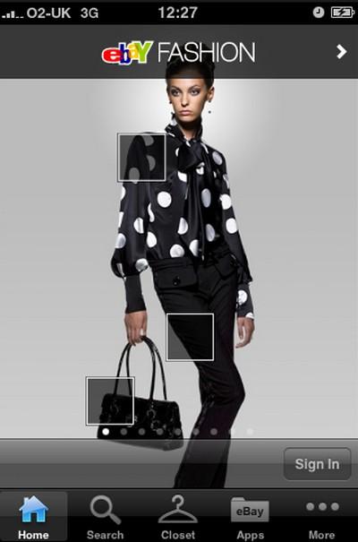 eBay Fashion iPhone, applicazione per shopping