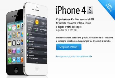 iPhone 4s, prezzi in Italia piuttosto alti