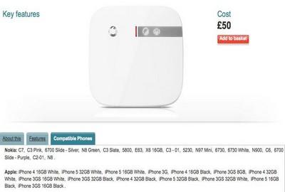 iPhone 5, la foto Vodafone con l'elenco dei modelli