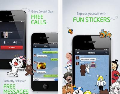 Line, alcune schermate dell'app