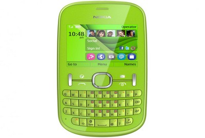 Nokia Asha 201 in verde acido