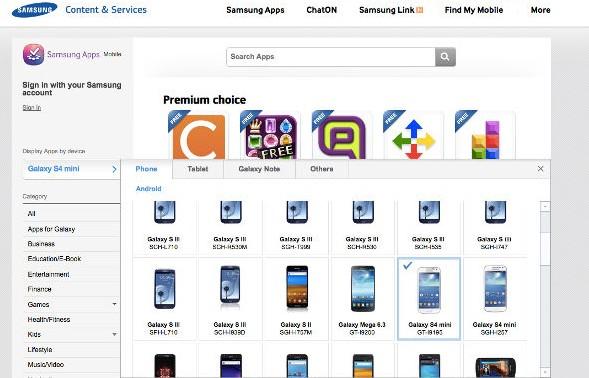 Samsung Galaxy S4 Mini, lo screenshot da Samsung Apps