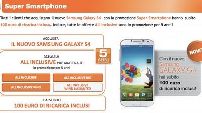 L'offerta Wind per il Samsung Galaxy S4