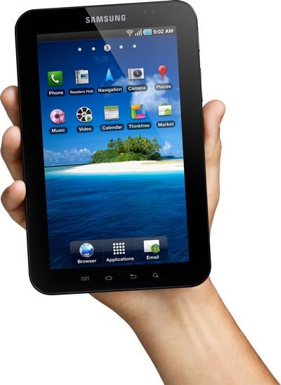 Samsung Galaxy Tab P1000, dimensioni